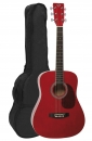 VGS D-Baby Mini Dreadnought Westerngitarre transparent red